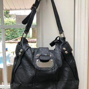 Guess hobo style bag, black and silver